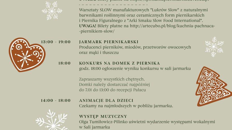 Spotkania Piernikarskie w Pałacu Kamieniec