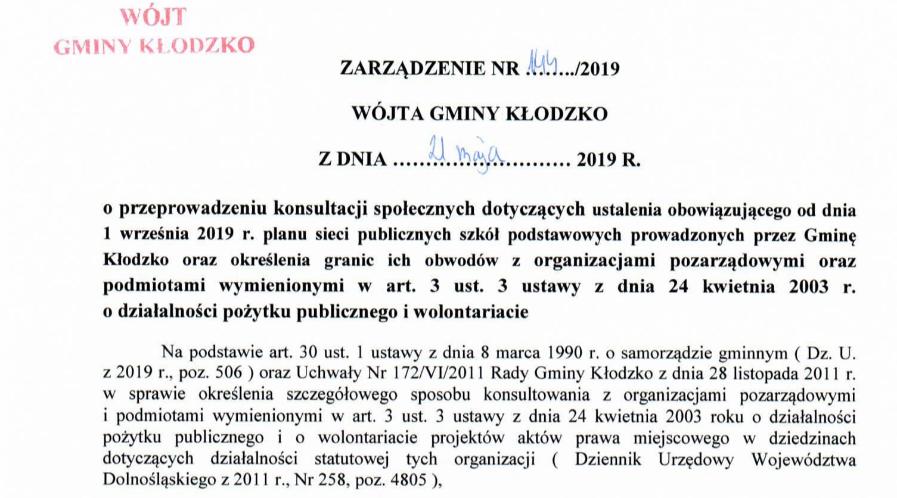 Zarządzenie nr 144/2019