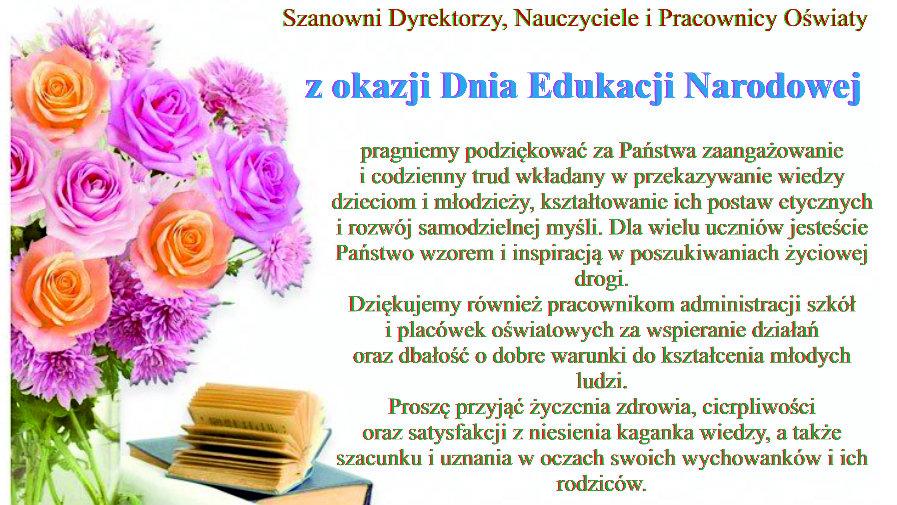 Wszystkiego najlepszego z okazji Dnia Edukacji Narodowej!
