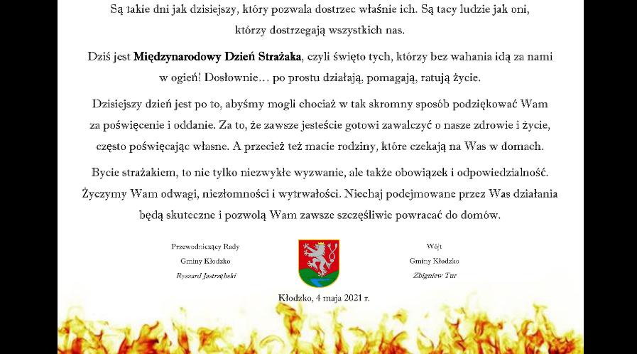 Międzynarodowy Dzień Strażaka